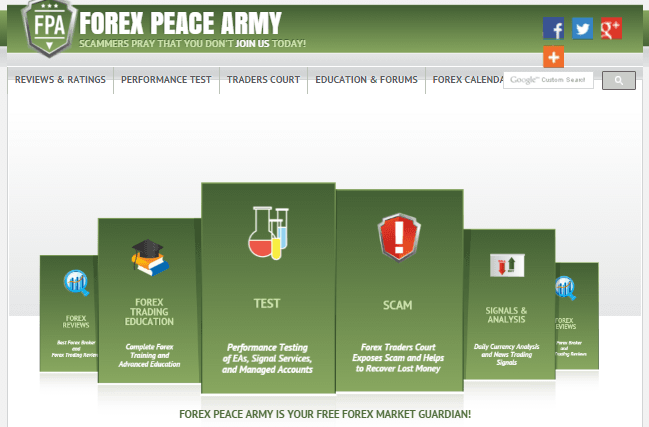 FOREX PEACE ARMY サイトイメージ画像